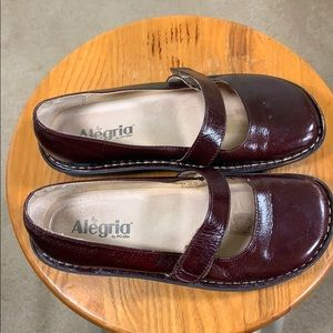 Alegria PG lite Mary Jane brown leather size 36 6